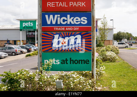 CHIPPENHAM, UK, 11th June, 2014. Signage at a Pets At Home store in Chippenham,Wiltshire. On the 12th June the company - Stock Photo