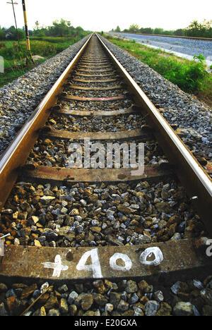 Rail Road Tracks - Stock Photo