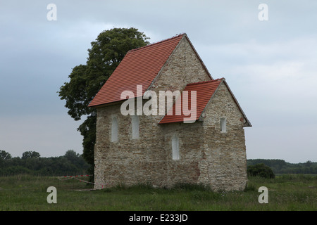 Church of St Margaret of Antioch, the only still standing building of the Great Moravian Empire, in Kopcany, Slovakia. - Stock Photo