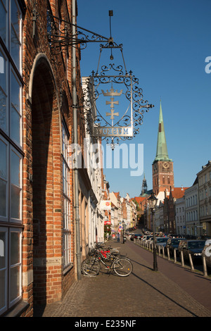 museum town of danzig located in lübeck, schleswig-holstein, germany - Stock Photo