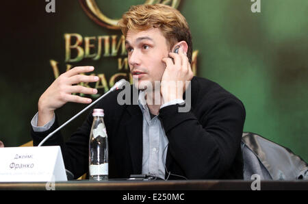 Oz the Great and Powerful' press conference  Featuring: James Franco Where: Moscow, Russian Federation When: 27 - Stock Photo