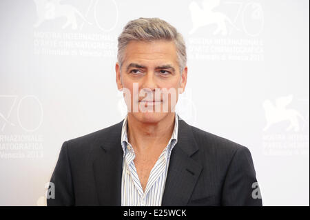 70th Venice International Film Festival - 'Gravity' - Photocall  Featuring: George Clooney Where: Venice, Italy - Stock Photo