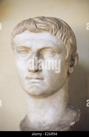 roman history,Roman Emperor Augustus from veio,Vatican Museums,Rome - Stock Photo