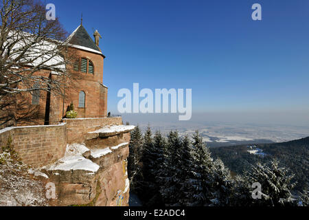 France, Bas Rhin, Mont Sainte Odile, Sainte Odile convent - Stock Photo