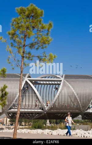 Spain, Madrid, Rio Madrid park along Manzanares river opened in 2011, Monumental Bridge Arganzuela of French architect - Stock Photo