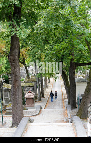 France, Paris, Pere Lachaise cemetery - Stock Photo