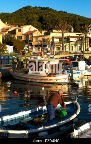 France Var Saint Cyr sur Mer hamlet Madrague marina - Stock Photo
