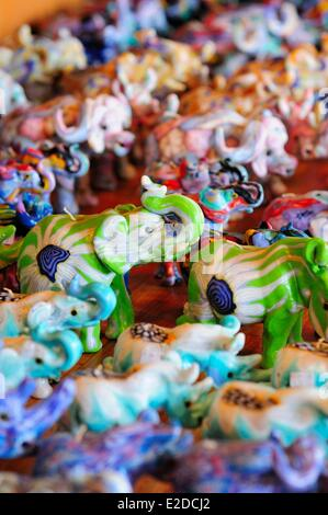 Swaziland Manzini district Malkerns valley handmade candles with african animals shapes at the Swazi Candles Craft - Stock Photo
