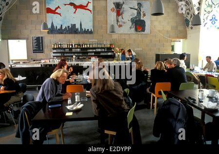 Autria Vienna Corbaci Cafe near the Austrian Architecture Museum located at the MQ Museumsquartier - Stock Photo