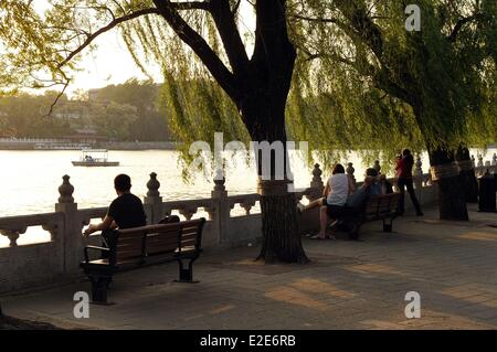 China, Beijing, Inner City, Qiong hua Island in the Beihai parc - Stock Photo