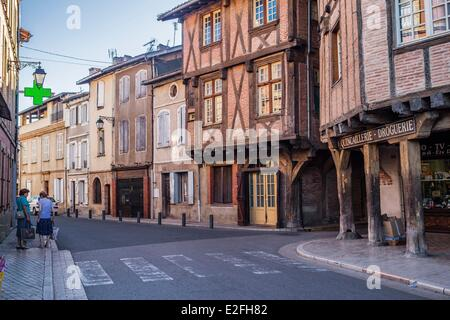 France, Tarn, Lisle sur Tarn, Bastide (Medieval fortified town) of the 13th century - Stock Photo