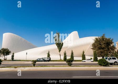 Azerbaijan Baku Heydar Haliyev Conference Centre by architect Zaha Hadid - Stock Photo