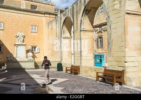 Malta La Valletta listed as World Heritage by UNESCO Upper Barraca gardens - Stock Photo