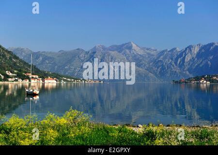 Montenegro Adriatic coast Kotor bay - Stock Photo