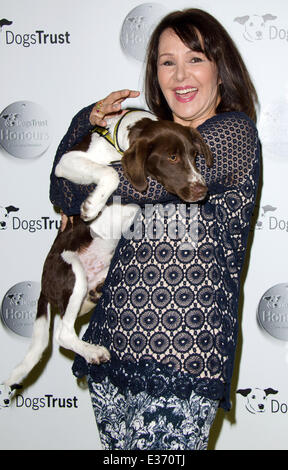 Dogs Trust Honours held at Home House - Arrivals  Featuring: Arlene Phillips Where: London, United Kingdom When: - Stock Photo