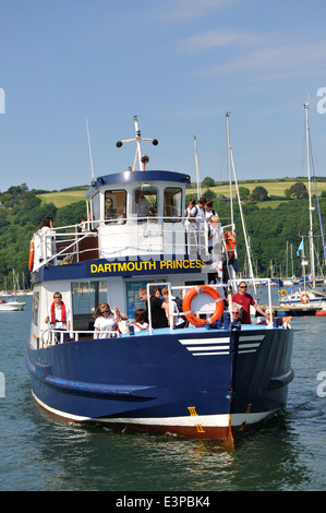 Dartmouth Princess ferry arriving at Dartmouth from Kingswear, on River Dart, Devon, England, UK - Stock Photo
