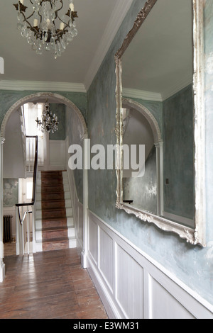 Hallway in boutique bed and breakfast, The Reading Rooms, Margate, Kent - Stock Photo