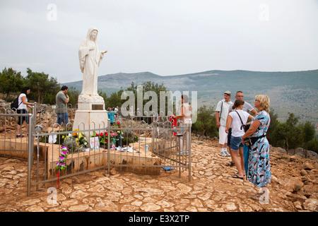 apparition hill, medugorje, bosnia and herzegovina, europe - Stock Photo