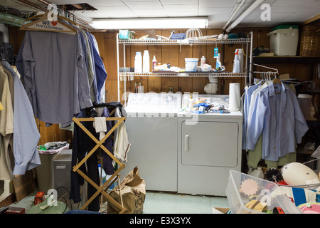Messy residential home, USA - Stock Photo