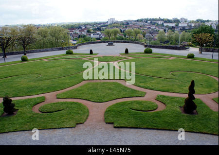 SAINT-ETIENNE CATHEDRAL GARDENS - Stock Photo