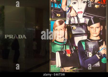 The Prada store in the Emporium Mall. - Stock Photo