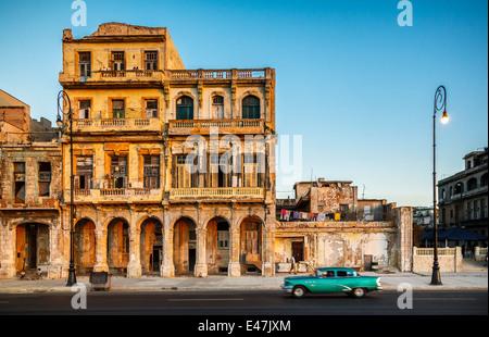 On the Malécon, Havana, Cuba - Stock Photo