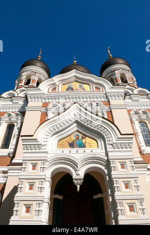 Russian Orthodox Alexander Nevsky cathedral in Toompea, Old Town, UNESCO, Tallinn, Estonia, Baltic States - Stock Photo