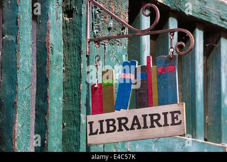 Librarire in Village de la Boucherie, Limoges, Haute-Vienne region, West-Central France, Europe - Stock Photo