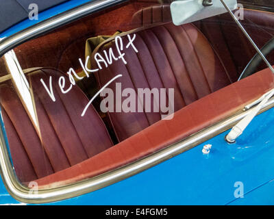 Classic Car Porsche 356 'verkauft' ('sold' german) - Stock Photo