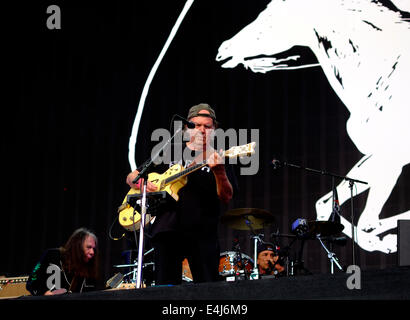 London, UK. 12th July, 2014. Neil Young and Crazy Horse play at British Summer Time festival in Hyde park Credit: - Stock Photo