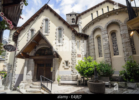 Church of Sant Esteve, Placa del Princep Benlloch, Andorra la Vella, Andorra - Stock Photo
