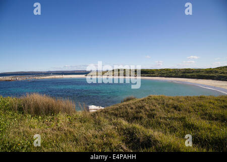 The beach at Boat Harbour between Cronulla and Kurnell in Sydney's south. - Stock Photo