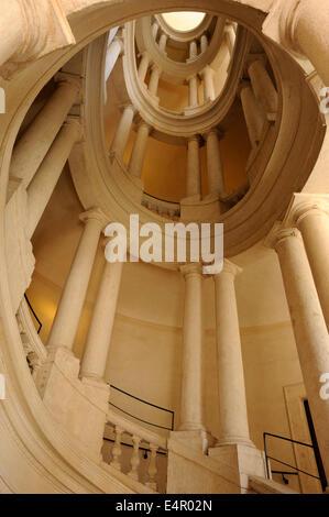 italy, rome, palazzo barberini, Borromini staircase - Stock Photo