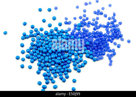 blue plastic granulate - Stock Photo