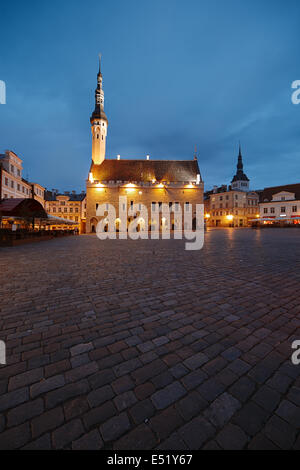 Town hall square in Tallinn - Stock Photo