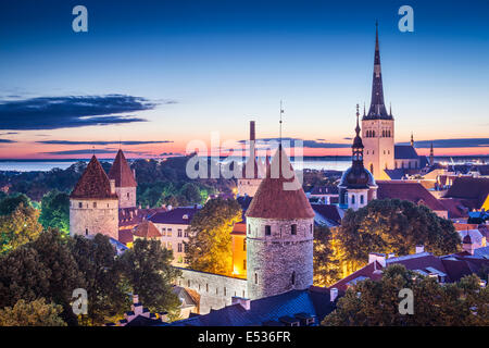 Tallinn, Estonia at dawn. - Stock Photo