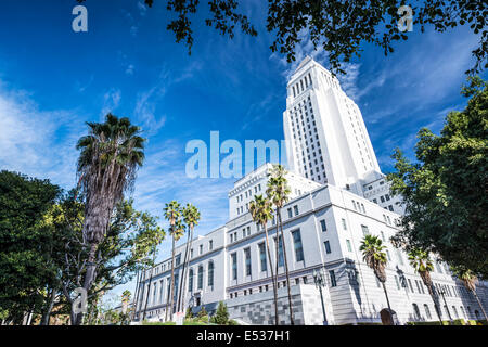 Los Angeles, California, USA downtown at city hall. - Stock Photo