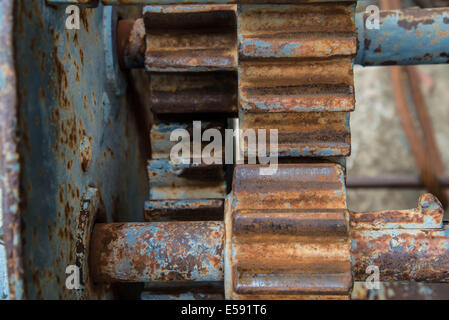 Old gear of the machine in the factory. - Stock Photo