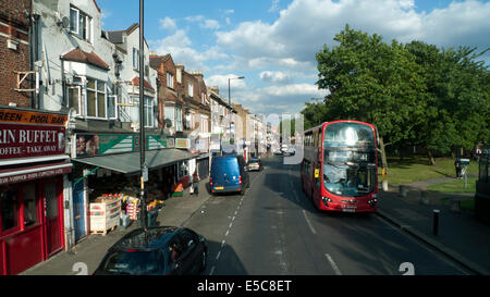 A view of  41 bus on West Green Road, Seven Sisters in the Borough of Haringey looking east London N17 UK  KATHY - Stock Photo