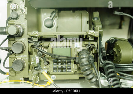 Belfast, Northern Ireland. 26/07/2014 - A Bowman secure telecommunications radio, used by the British Armed Forces - Stock Photo