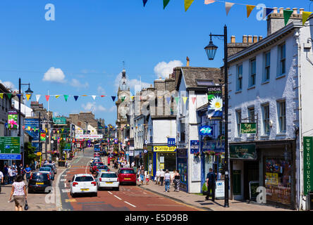 Highgate in the centre of Kendal, Lake District, Cumbria, UK - Stock Photo