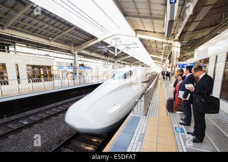 Asia, Japan, Honshu, shinkansen bullet train - Stock Photo