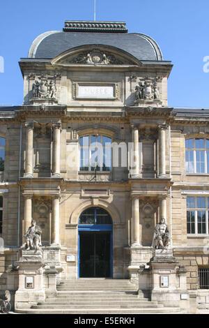 France, Haute Normandie, seine maritime, rouen, musee des beaux arts, 1 place restout, facade, entree, - Stock Photo
