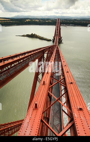 Forth Rail Bridge, North Queensferry Fife, Scotland, UK. 31st July, 2014. Preview of the vista from a proposed viewing - Stock Photo