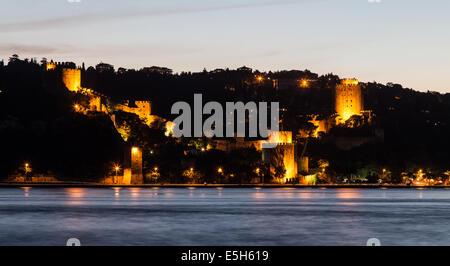 Rumelian Castle in Istanbul City, Turkey - Stock Photo