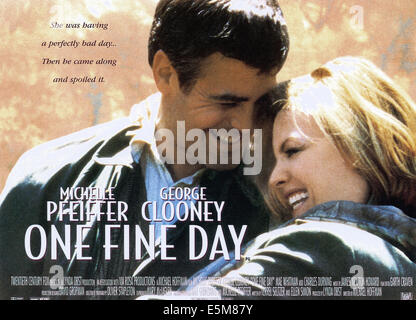 ONE FINE DAY, from left: George Clooney, Michelle Pfeiffer, 1996, TM & Copyright © 20th Century Fox Film Corp./courtesy - Stock Photo