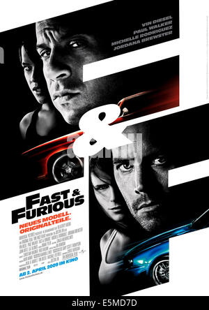 FAST & FURIOUS, (aka FAST AND FURIOUS), top from left: Michelle Rodriguez, Vin Diesel, bottom from left: Jordana - Stock Photo