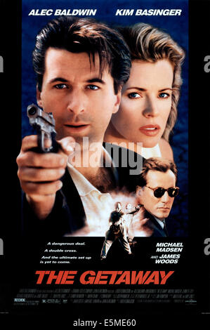 THE GETAWAY, from left: Alec Baldwin, Kim Basinger, James Woods (sunglasses), 1994, © Universal/courtesy Everett - Stock Photo