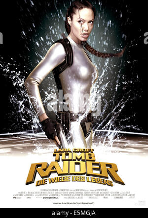 LARA CROFT TOMB RAIDER: THE CRADLE OF LIFE, Angelina Jolie, 2003, (c) Paramount/courtesy Everett Collection - Stock Photo