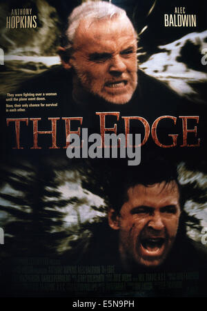 THE EDGE, Anthony Hopkins (top), Alec Baldwin, 1997, TM & Copyright © 20th Century Fox Film Corp./courtesy Everett - Stock Photo